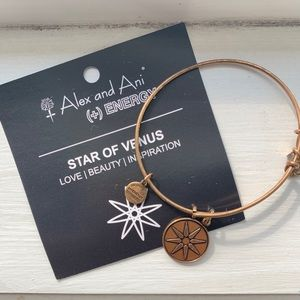 Alex and Ani Star of Venus bangle in gold